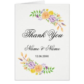 Danke kardiert Hochzeits-Gast-lila mit Karte