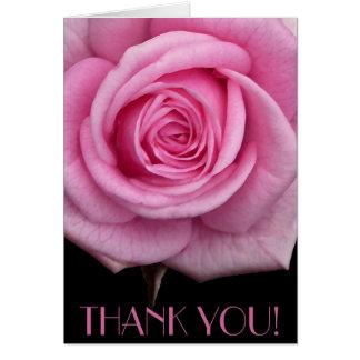 Danke kardiert rosa Blumen-kundenspezifische Gruß- Grußkarte