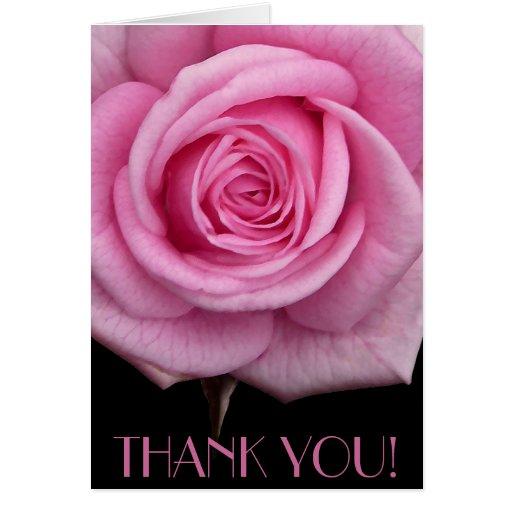 Danke kardiert rosa Blumen-kundenspezifische Gruß- Karten