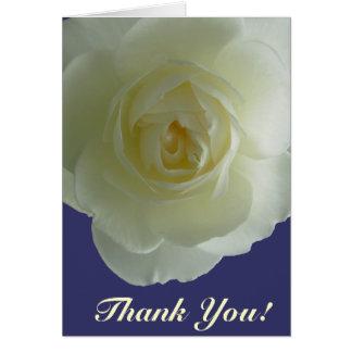Danke kardiert weiße Blumen-kundenspezifische Gruß