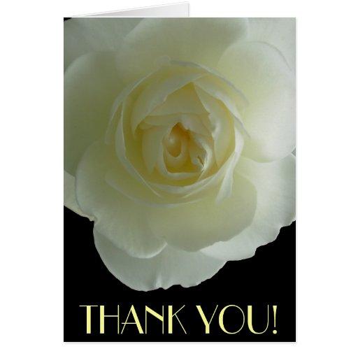 Danke kardiert weiße Blumen-kundenspezifische Gruß Grußkarte
