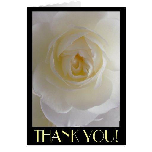Danke kardiert weiße Blumen-kundenspezifische Gruß Grußkarten