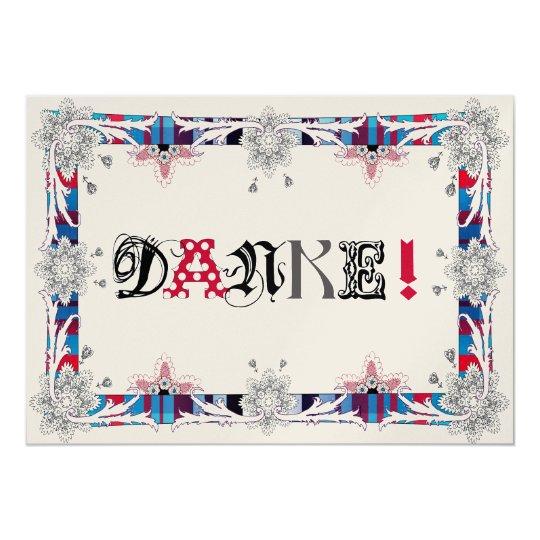 Danke Karte /German Version