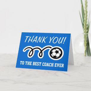 Den fußballtrainer an danke Danke an
