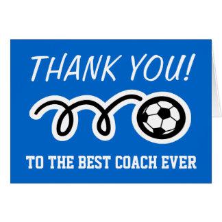 Danke Karten für Fußballtrainer kundengerechtes  