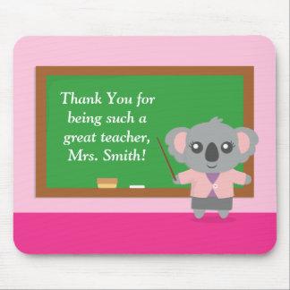 Danke, Koala-Bär, Lehrer-Anerkennung Mousepads