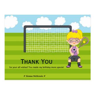 Danke Lacrossegeburtstag Postkarte