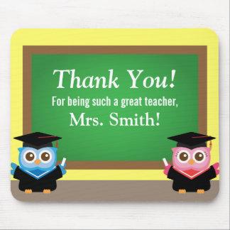Danke Lehrer, Abschluss-Abschied, niedliche Eulen Mauspad