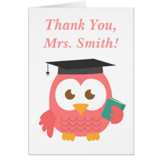 Danke, Lehrer-Anerkennung, Lehrer-Eule Grußkarte