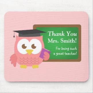 Danke, Lehrer-Anerkennungs-Tag, niedliche rosa Mousepads