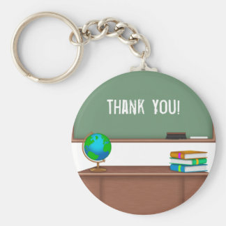 Danke Lehrer-Geschenke Standard Runder Schlüsselanhänger
