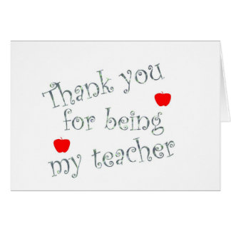 Danke Lehrer Grußkarte