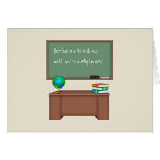 Danke Lehrer-Karten Grußkarte