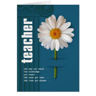 Danke Lehrer-kundengerechte Gruß-Karten Grußkarte