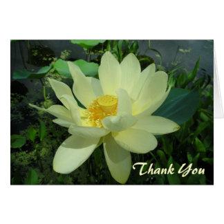 Danke Lilien-Blume Karte des gelben Wassers