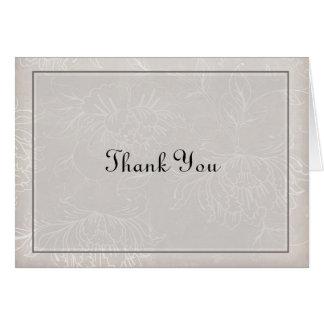 Danke, Lite-Grau zu kardieren Karte