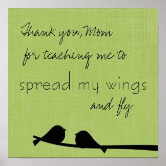 Danke Mamma-Druck Poster