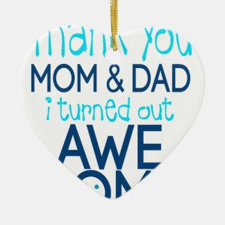 danke Mamma und Vati, die ich fantastisches Keramik Herz-Ornament