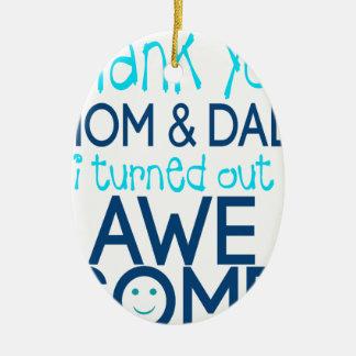 danke Mamma und Vati, die ich fantastisches Keramik Ornament