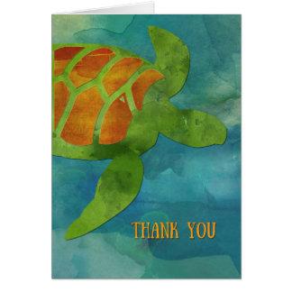 Danke Meeresschildkröte Karte