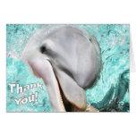 Danke mit lächelnder Delphin-Karte