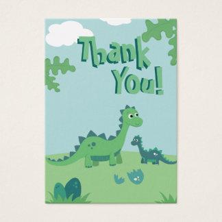 Danke, mit niedlicher Dinosauriermama und -kind zu Visitenkarte
