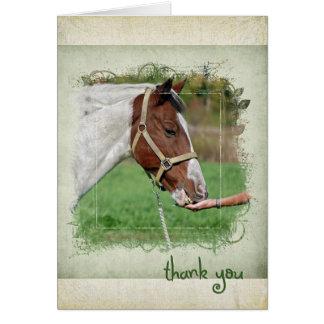 Danke mit Pferd Karte