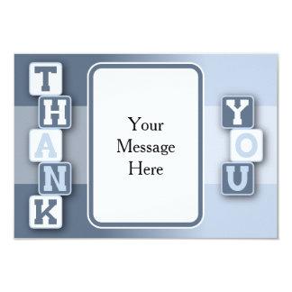 Danke, mit Text-Rahmen zu kardieren 8,9 X 12,7 Cm Einladungskarte