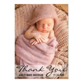 Danke moderne Baby-Geburts-Foto-Karte Karte