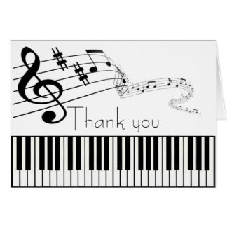 Danke Musik-Anmerkungs-Sorgfalt Mitteilungskarte