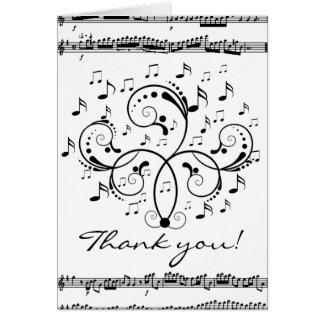 Danke Musik Grußkarte