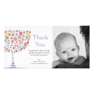 Danke neue Baby-Ankunfts-Geschenk-Fotokarte