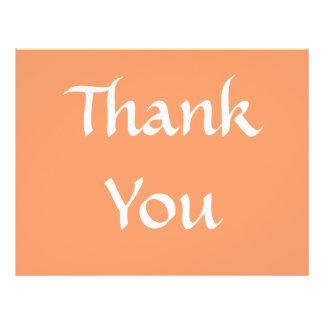 Danke Orange und Weiß Custom Flyer