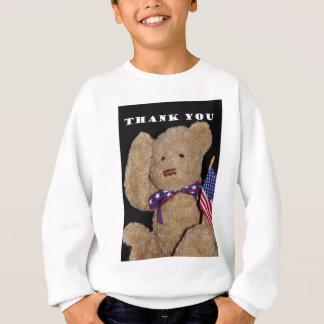 Danke patriotischer Teddybär Sweatshirt