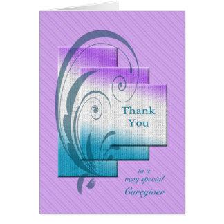 Danke Pflegekraft, mit eleganten Rechtecken Karte