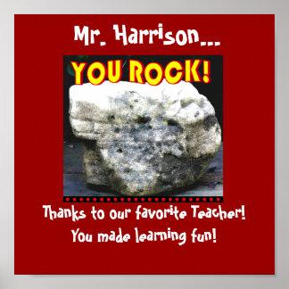 Danke Plakat für Lieblingslehrer