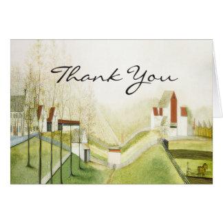 Danke - reizend Bauernhof Karte