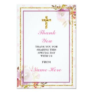 Danke religiöse heilige Querblumengoldkarten 8,9 X 12,7 Cm Einladungskarte