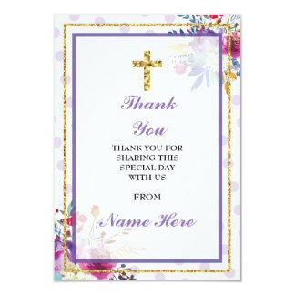 Danke religiöse heilige Querblumentaufe-Karte 8,9 X 12,7 Cm Einladungskarte