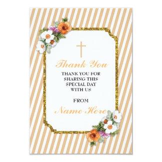 Danke religiöser Pfirsich-Streifen-Blumenkarten 8,9 X 12,7 Cm Einladungskarte