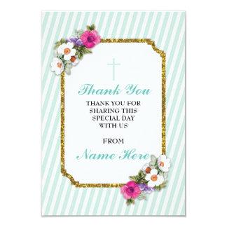 Danke religiöser tadelloser Streifen-Blumenkarten 8,9 X 12,7 Cm Einladungskarte