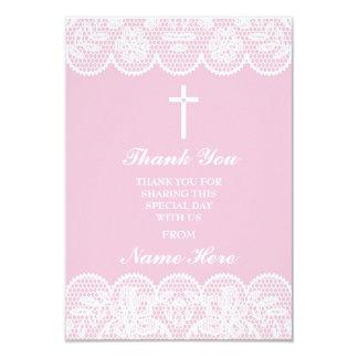 Danke religiöses Spitze-Kreuz-heilige mit 8,9 X 12,7 Cm Einladungskarte