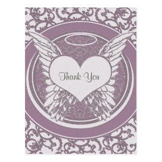 Danke Rosa | Beileids-| Postkarte