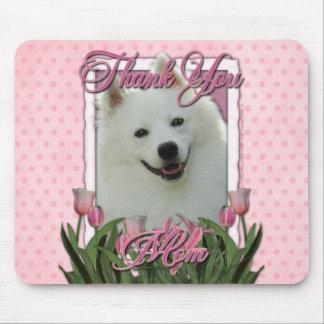 Danke - rosa Tulpen - amerikanischer Eskimo Mauspads