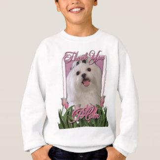 Danke - rosa Tulpen - maltesisch Sweatshirt