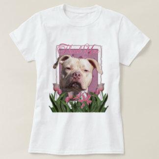 Danke - rosa Tulpen - Pitbull - Jersey-Mädchen T-Shirt