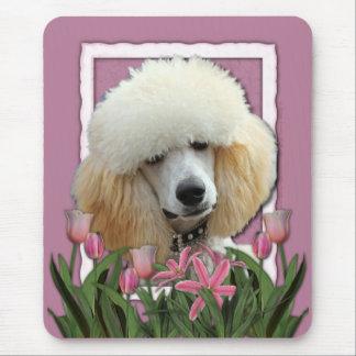 Danke - rosa Tulpen - Pudel - Aprikose Mauspads