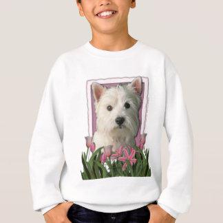 Danke - rosa Tulpen - Westhochland Terrier Sweatshirt
