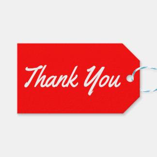Danke rot und weiße Geschenk-Umbauten Geschenkanhänger