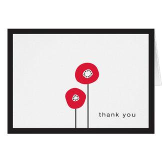 Danke - rote Mohnblume Karte